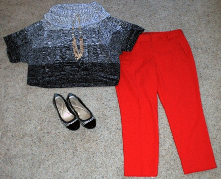 black-sweater-red-pants