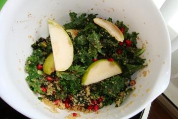 Winter Kale & Quinoa Pomegranate Salad
