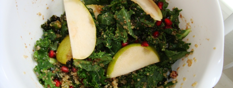 Winter Kale & Quinoa Pomegranate Salad