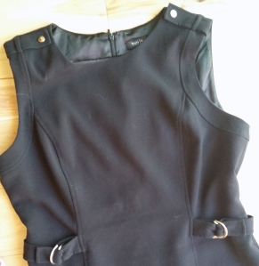 Black dress with silver accents