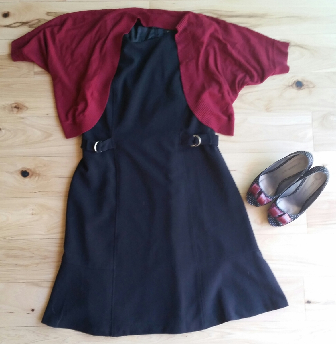 Black Dress and Red Cover-up