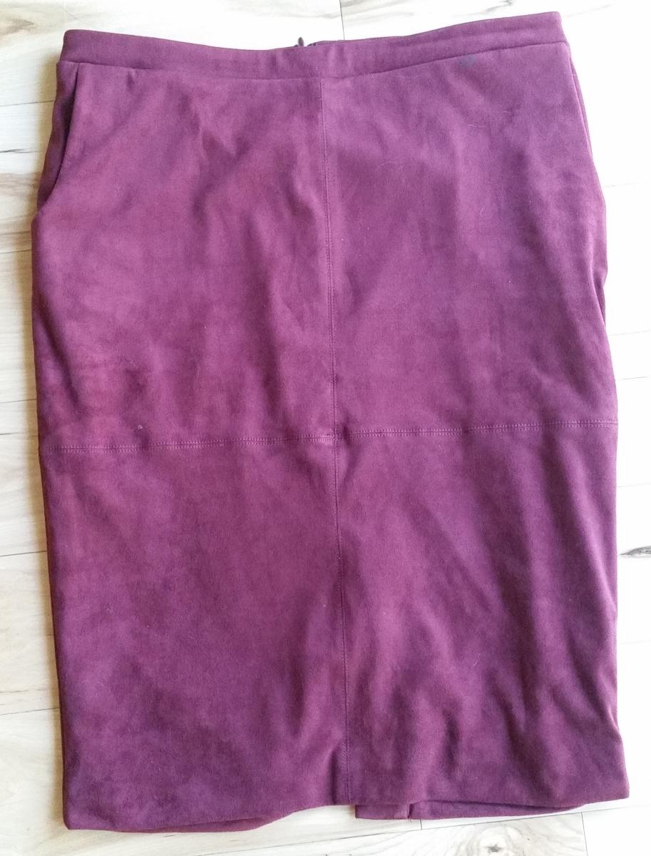 Maroon Suede Skirt