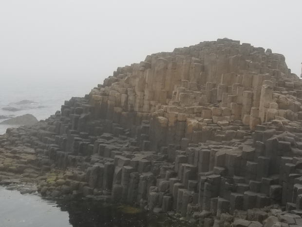 Stone columns at Giant's Causeway in Ireland