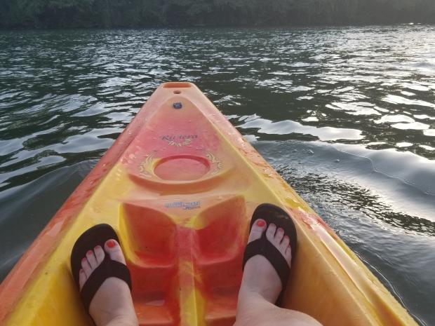 Font of a kayak